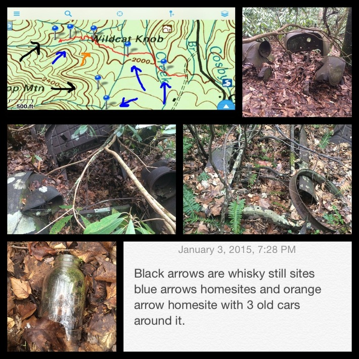 A little road trail from bear neck cove to a creek out of toms gap(Cosby camp area)
