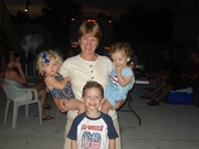 Ms Mary with Hannah, Liam and Brogan
