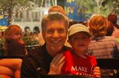 Hunter and Tom Bergeron