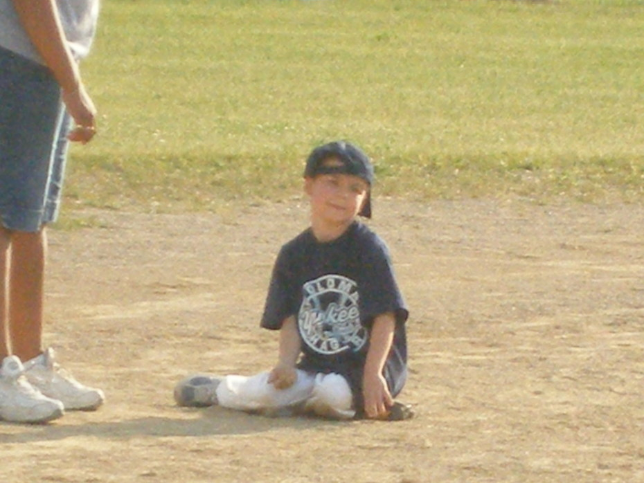 Jason taking a break on 2nd Base