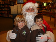 12 DECEMBER Austin and Connor w Bookstore Santa Claus GREAT