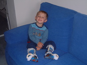 """Sam in his """"Moon Boots""""!!"""