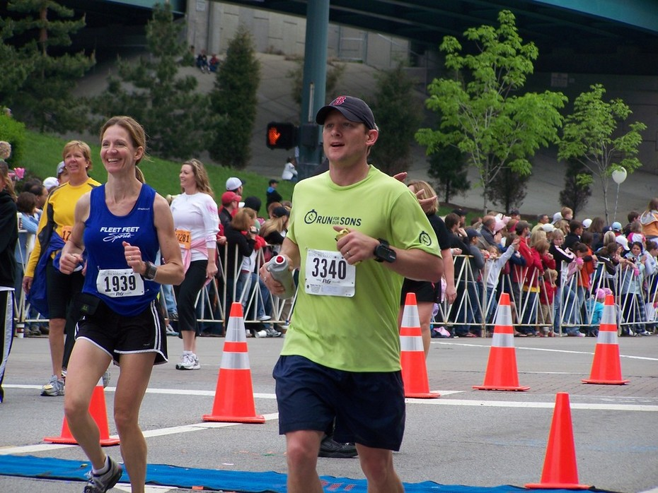 Dale Willis at the finish!