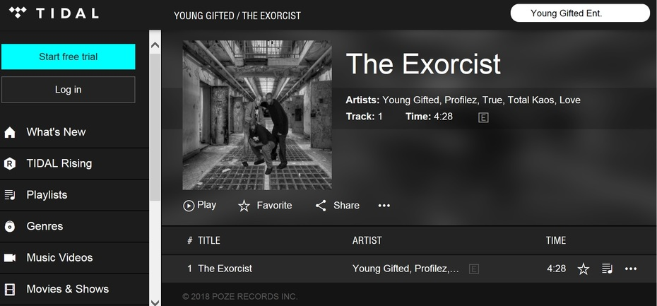 Tidal_The Exorcist By Young Gifted
