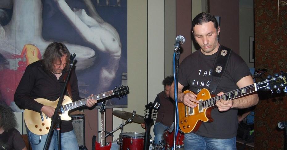 Θανάσης Γκιόκας (Daddys Work Blues Band) and Βασίλης( Texas Brothers)