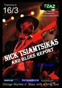 Nick Tsiamtsikas & Blues Report live @ TZAZ club in Kifisia