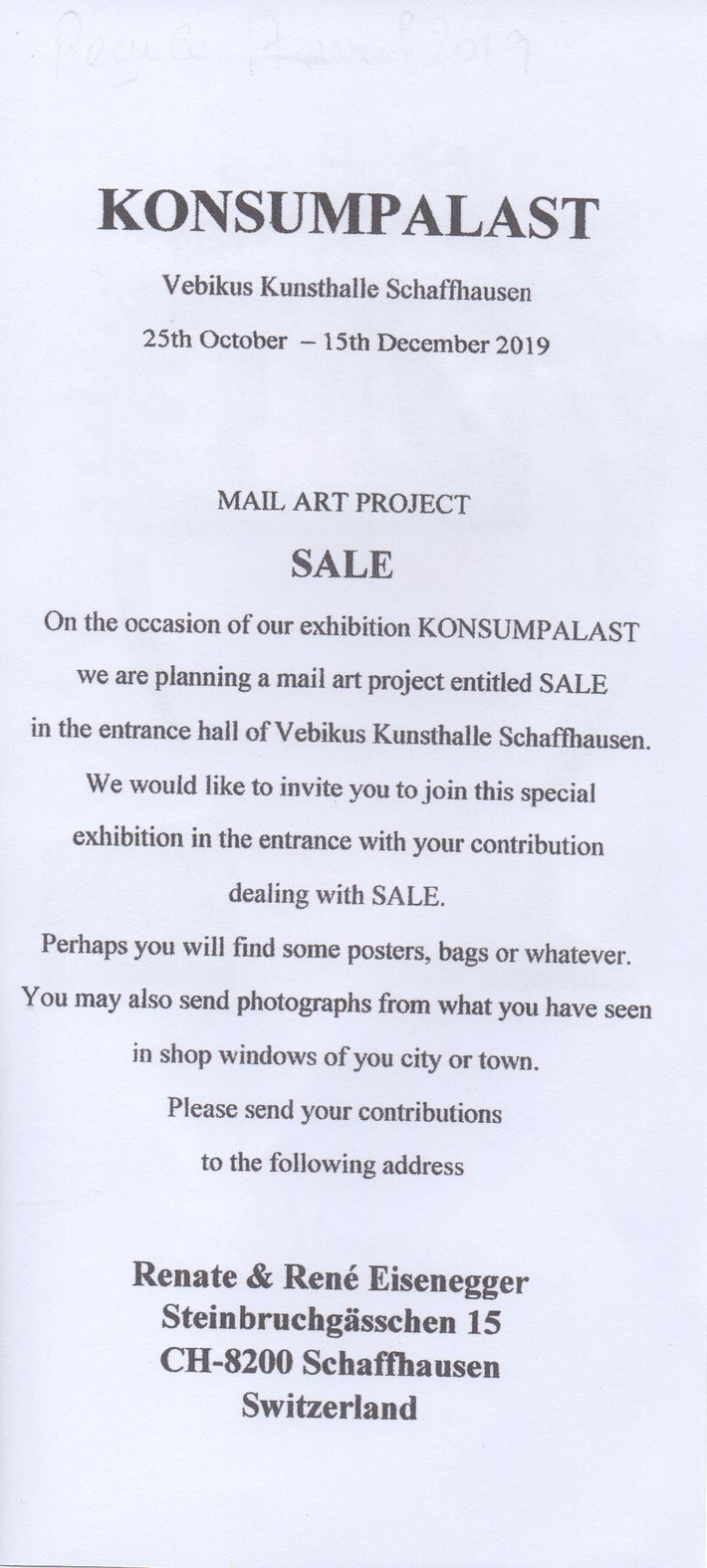 Mail-Art Projects List – International Union of Mail-Artists