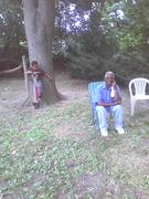 Chad and Great Grandfather William Martin, July 11, 2009