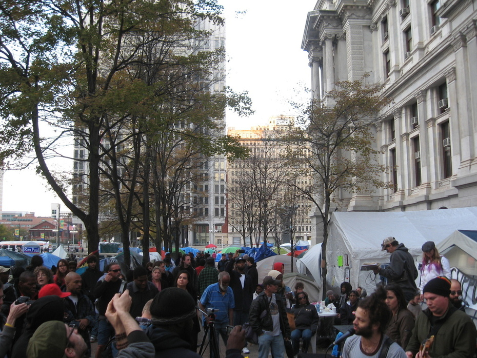 Occupy Philly during a performance by CULTUREAL