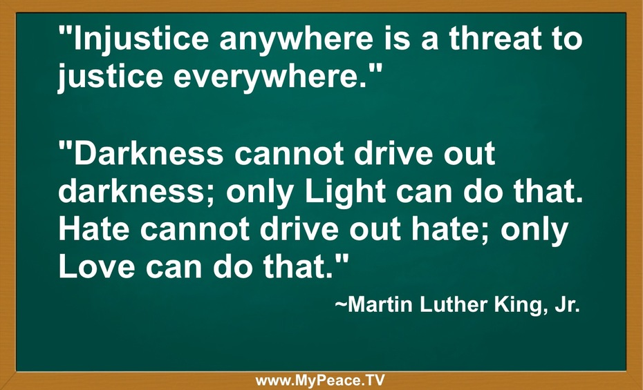 Injustice anywhere...
