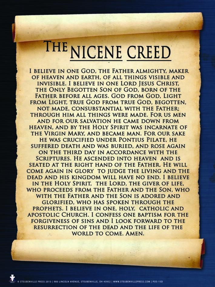 Nicene Creed 325AD