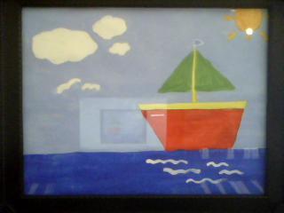 La petite bateau sur la mer