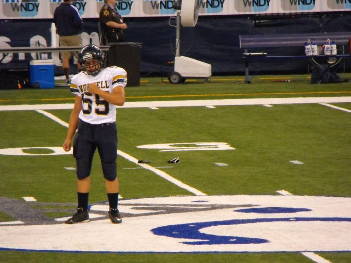 My oldest playing in Lucas Oil Stadium (Indianapolis Colts)
