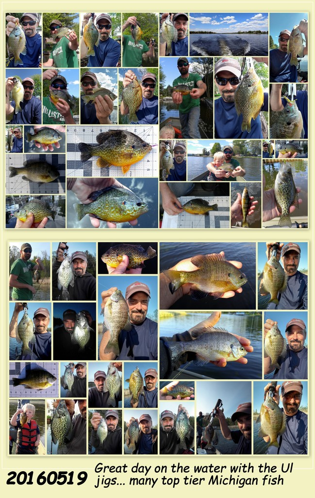20160519- LONG CASTING THE UL JIGS WITH SUPER LINES PRODUCES MANY TOP TIER MICHIGAN PANFISH