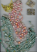 Antique Beaded Necklaces (2)