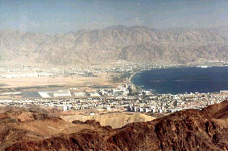 City of Eilat aqaba in the southern tip of Israel