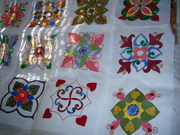 2 applique squares