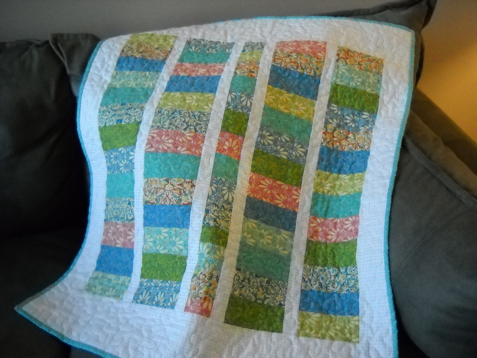 Stacked Coins Baby quilt