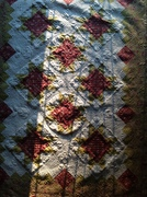 Mystery quilt done and quilted by me.