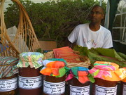 Athil at the Ooooby Market stall