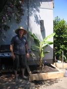 Gary & his baby Hamoa Banana Plant 2/12/07