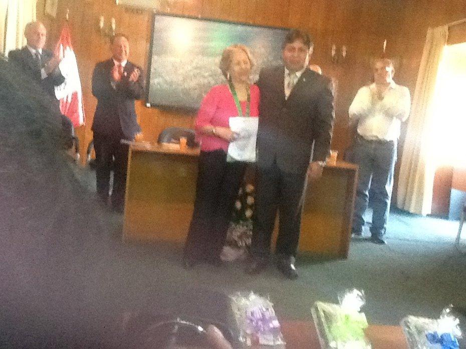 Entrega de Medalla y Diploma Concejo Provincial de Huanta