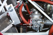 Engine throttle carb connection