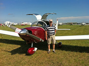 Geoffrey Alexander with his CH 640