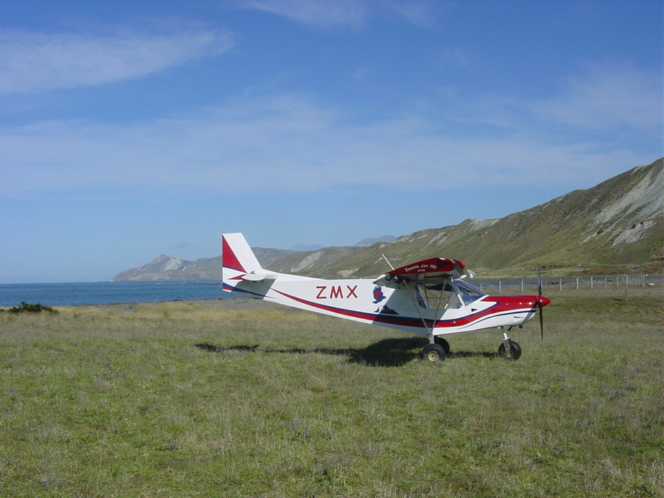 ZK ZMX at Cape Campbell Airstrip