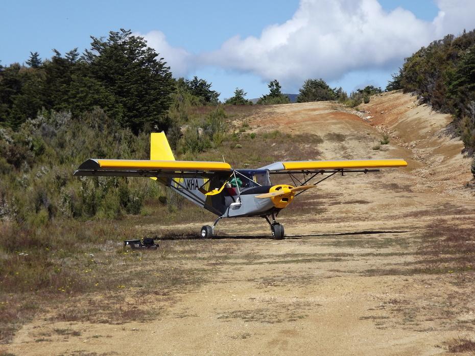 Parked at Cobb Airstrip