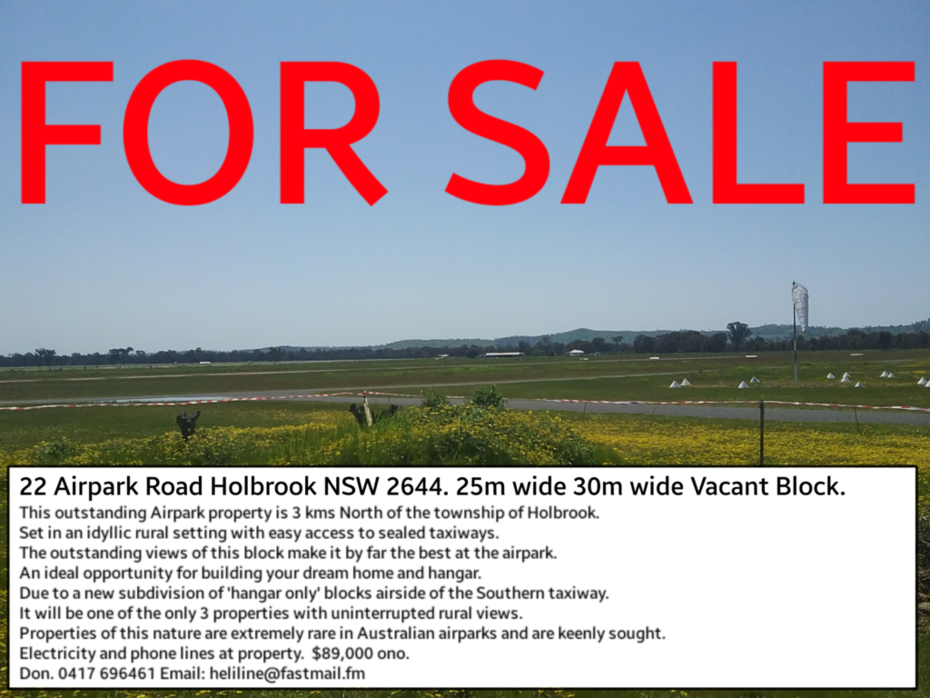 22 Airpark Road Holbrook NSW