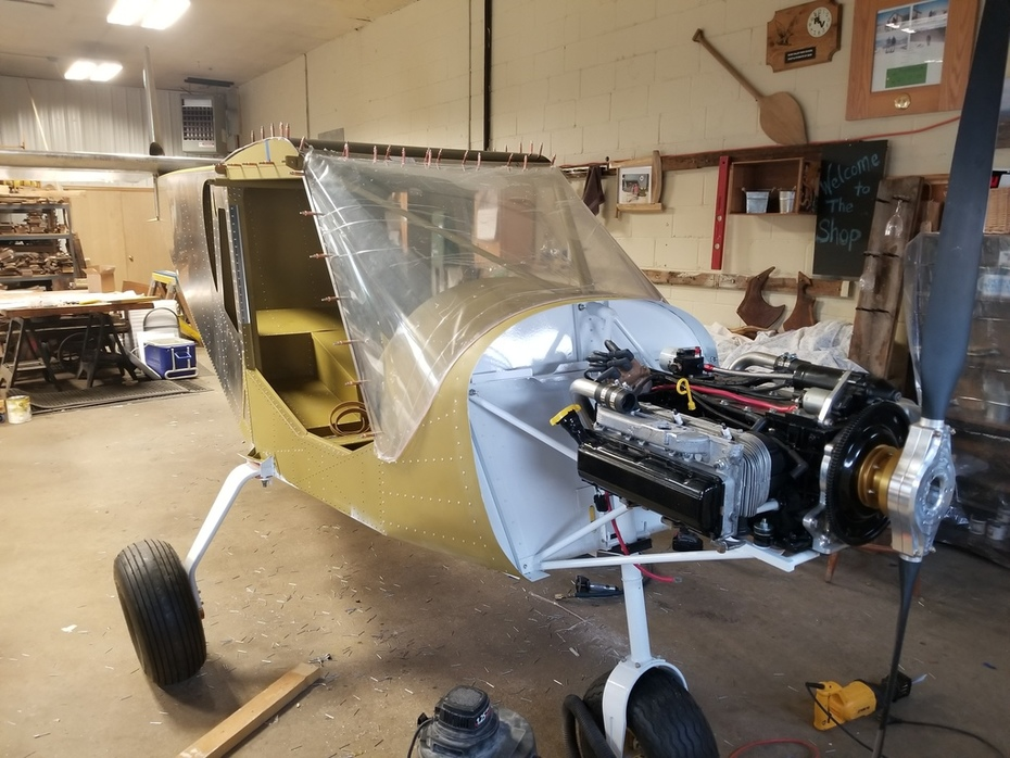 Corvair engine on the STOL CH 750