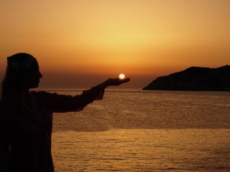 Ηλιοβασίλεμα στις Καμάρες Σίφνου Νο 1