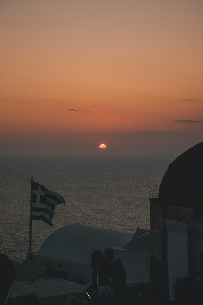 Ηλιοβασίλεμα Σαντορίνη.