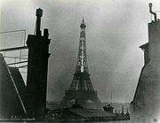 Ilse Bing, Eiffel Tower with the thermometer, ca. 1932