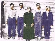 Mary Miller Cox and 4 Sons