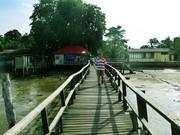 水波荡漾的渔村 (边佳兰 )