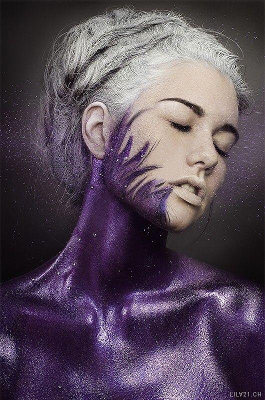 人體彩繪紫系列02
