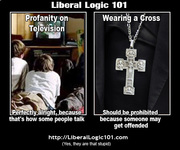 Liberal Logic 101 Profanity on TV v Wearing a Cross