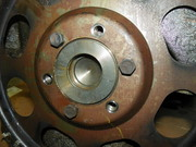 hydrmatric driveplate on a TH Crankshaft end (2)