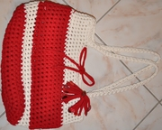 Zpagetti-Tasche rot-weiß