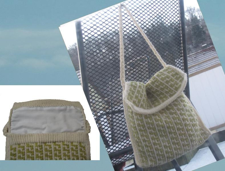 Tasche Hebemaschenmuster