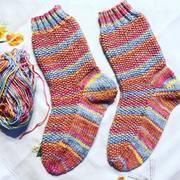 Socken mit Perlmuster