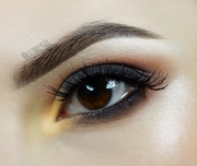 Brown Smokey With A Pop Of Yellow