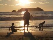 SUSET AT MANUEL ANTONIO BEACH COSTA RICA