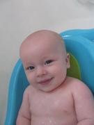 Liam in his tub