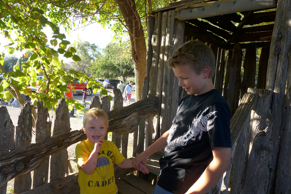 Liam & Miles at Rombach's Farm
