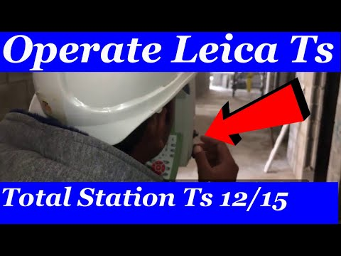 How to Operate Leica Ts 12 Total Station