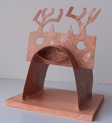 Simple deer, nearly abstract.