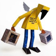 Born to be paper toy, forced to be free, 2012.